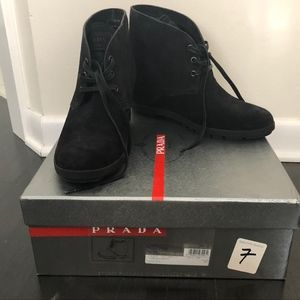 Prada Wedge Bootie